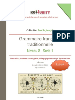 GrammairefrancaisetraditionnelleExtraitduniveau2serie1FREE