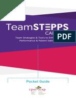TeamSTEPPS Canada Pocket Guide