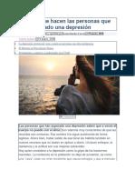 DEPRESION , 7 Cosas Que Hacen Las Personas Que Han Superado Una Depresión