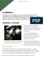 El Plástico _ Materias Primas _ Icarito