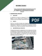 Informe Tecnico de Servicio de Contratación de Obra Civi