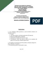 Instrumentos de Evaluación Iniciativa Empresarial I Semestre 2-2019