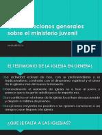 Consideraciones Generales Sobre El Ministerio Juvenil LANZAMIENTO 16