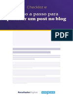 Check list para publicar post em blogs