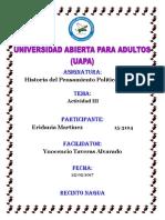 Actividad III Historia Del Pensamiento Politico y Social Eridania Martinez (1)