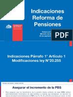Indicaciones Reforma de Pensiones