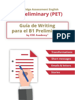 Guía de Writing B1 Preliminary PET SAMPLE