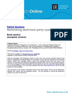 Dunleavy Rethinking Dominant Party Systems 2010