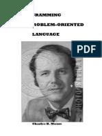 Programming a Problem-Oriented Language