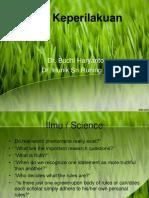 Power point Behaviour Science Pendahuluan.pptx