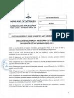 Disposicion Tecnica 001-2019 - Mensuras Catastrales