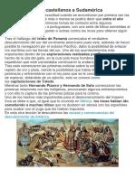 La Llegada de Los Castellanos a Sudamérica