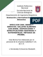 Norma de Galletas Documento Word