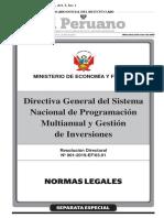 Empresas Del EstadDirectiva General del Sistema Nacional de Programación Multianual y Gestión de Inversioneso