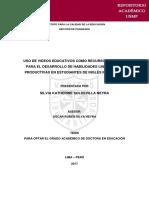 tesis de aplicación de los vídeos educativos