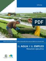 Agua y Empleo - UNESCO (Resumen)