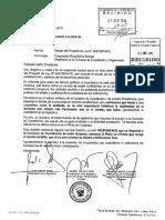 Carta Bancada Contigo - adelanto de elecciones