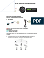 GPS Speed Sensor User Guide GS202 Programmable by SINOGAUGE