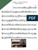 Coro Dos Escravos - Verdi - Partitura Educacao Musical Jose Galvao SL