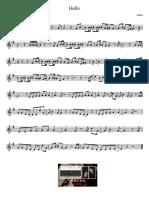Hello - Adele - Partitura Educacao Musical Jose Galvao SL