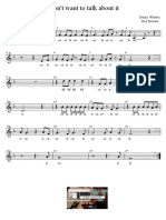I Dont Want to Talk About It - Rod Stewart - Partitura Educacao Musical Jose Galvao CL