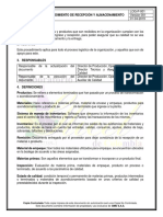 LOG-P-001 PROCEDIMIENTO DE RECEPCIÓN Y ALMACENAMIENTO.docx