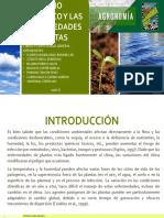 El Cambio Climatico y Las Enfermedades de Plantas