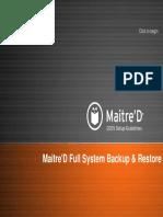 Maitre'D Full System Backup & Restore