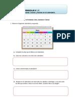 (OA17) Identificar Días, Semanas, Meses y Fechas en El Calendario.