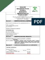 Hoja de Seguridad y Ficha Tecnica Manvert Aminoacidos 24