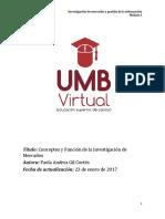 M1. Investigación de Mercados y Gestión de La Información