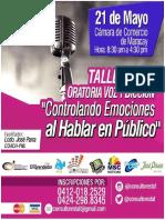 Taller Oratoria Voz y Diccion
