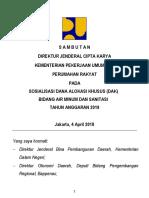 Sambutan Dirjen CK_Sosialisasi DAK 2018 Rev 1