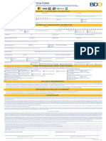 BDO Supplementary Application Form