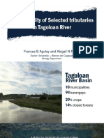 [AGULAY and PAASA] Water Quality of Selected Rivers in Tagoloan River