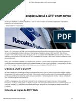 DCTF 2019_ Declaração Substui a GFIP e Tem Novas Regras