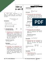 Potenciaasion-Radicacion en Z