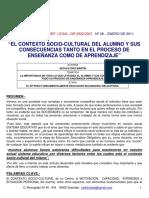 El Contexto Socio-cultural Del Alumno y Sus Consecuencias Tanto en El Proceso de Enseñanza Como de Aprendizaje (1)