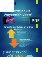 Capacitación de Proyección Vocalic