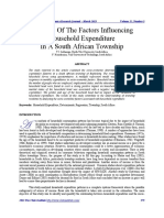 Analysis of the Factors Influencing Household Expenditure