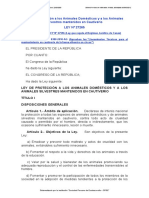 Ley-27265-Proteccion de Los Animales Domesticos y a Los Animales Silvetres Mantenidos en Cautiverio
