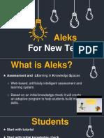 aleks for new teachers