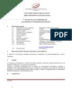 Diagnostico Informe Psicologico 2019-II