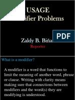 Usage Modifier Problems