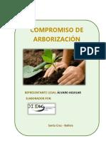 Compromiso de Arborización , plan de reforestacion urbana