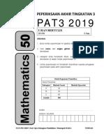 Kertas Percubaan Matematik PT3 2019 MRSM