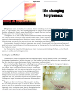 Life Changing Forgiveness