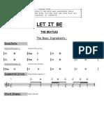 Beatles Letitbe Simple Keyofg
