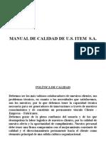 Manual de Calidad de Metalmecanica