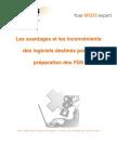 Les avantages et les inconvénients des logiciels destinés pour la préparation des FDS